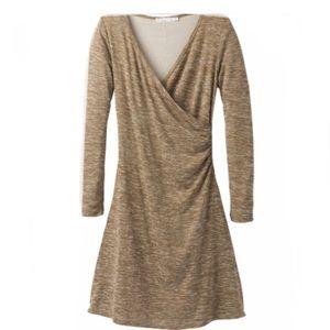 PrAna Nadia long sleeves Dress in the color Stone.
